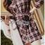 Lady Rachel Ribbon Twist Tartan Wool Shirt Dress thumbnail 5