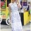 Lady Chloe Casual Printed Dress เดรสยาวแขนกุด thumbnail 5