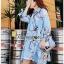 Lady Leslie Vivid Blue Printed Bow Dress thumbnail 2