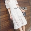 Chic White Lady Ribbon Shirt Dress thumbnail 3