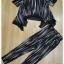 เสื้อกางเกงเกาหลีผ้าพื้นสีดำ thumbnail 8