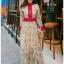 Lady Fancy Colourful Lace Maxi Dress thumbnail 2