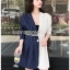 Two-Tone Striped Lady Ribbon Suit Dress thumbnail 2