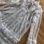 Mini Dress เดรสผ้าลูกไม้สีขาวตกแต่งริบบิ้น thumbnail 6