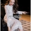 Maxi Dress เดรสยาวผ้าลูกไม้สีขาวทรงแขนยาว thumbnail 5