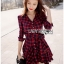 Lady Charlotte Red Tartan Ruffle Shirt Dress thumbnail 2
