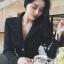 Smart Elegant Lady Ribbon Suit Dress thumbnail 4