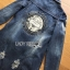 Crystal Studded Lady Denim Shirt Dress thumbnail 6