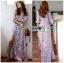 Modern Bohemian Floral Printed Lady Maxi Dress thumbnail 3