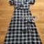 Dress เดรสพิมพ์ลายตารางสก็อตสีดำ thumbnail 9