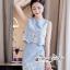 เซทลุคสาวเกาหลีสวยเก๋ดีเทลเสื้อเเขนกุดทรงครอป thumbnail 7