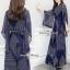 เสื้อกางเกงงานเกาหลีผ้าชีฟองสีกรม thumbnail 2