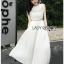 Lady Mia Embroidered Pleated Chiffon Dress thumbnail 1