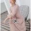Dress เดรสผ้าลูกไม้สีเบจสไตล์วินเทจ thumbnail 7