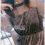 Star Printed Velvet Lady Ribbon Dress thumbnail 5