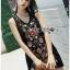 Lady Penelope Boho Black cotton Dress thumbnail 1