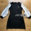 Sleeve Black T-Shirt Lady Ribbon Dress thumbnail 7