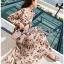 Chiffon Dress with Flower Belt thumbnail 2