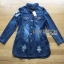 Crystal Studded Lady Denim Shirt Dress thumbnail 7