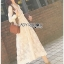 Midi Dress Lady Ribbon with Slip Dress thumbnail 2