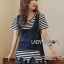 Lady Cindy Striped T-Shirt and Denim thumbnail 2