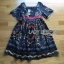 Floral Printed Lace Embroidered Polyester Dress thumbnail 8