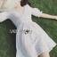 Holiday White Cotton Dress thumbnail 1