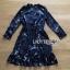 Lady Alora Spring Blossom Printed Ruffle Crepe Dress thumbnail 7