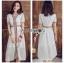 White Dress Lady Ribbon เดรสสีขาวสไตล์อินเดีย thumbnail 1