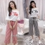 เซ็ทวอล์มเสื้อ+กางเกงเกาหลี thumbnail 1