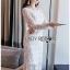 Maxi Dress เดรสยาวผ้าลูกไม้สีขาวทรงแขนยาว thumbnail 2