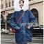 Chic Lady Ribbon Fur-Hood Denim Jacket thumbnail 3