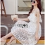 Summer Off-Shoulder White Lace Dress thumbnail 2