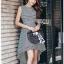 Chic Asymmetric Lady Ribbon Striped Dress thumbnail 5