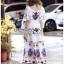 Dress เดรสผ้าเครปสีขาวพิมพ์ลายสีสดใส thumbnail 6