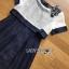 White Silk Cotton Dress Lady Ribbon เดรสผ้าซิลค์ thumbnail 5
