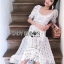 Lady Selena Sweet Feminine Ruffle White Lace Dress thumbnail 3