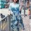 Lady Danielle Feminine Elegant Floral Printed Polyester Dress thumbnail 3