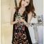 Lady Penelope Boho Black cotton Dress thumbnail 5