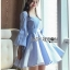 Baby Blue Mini Dress with Ribbon thumbnail 3
