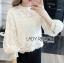 White Lace Blouse Lady Ribbon ขายเสื้อลูกไม้สีขาว thumbnail 2