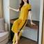 เซ็ทเสื้อ+ผ้าริบบิ้น+กางเกงงานเกาหลีผ้าสีพื้น thumbnail 7