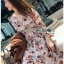Lady Anne Autumn Dress with Flower Belt thumbnail 2