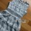 Ruffle Grey Lady Ribbon Lace Dress thumbnail 6