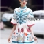 Printed Ruffle-Sleeve Dress เดรสผ้าเครป thumbnail 3