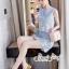 เซทลุคสาวเกาหลีสวยเก๋ดีเทลเสื้อเเขนกุดทรงครอป thumbnail 8
