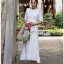 Lady Clemence Ruffle Embroidered White Cotton Dress thumbnail 4