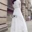 White Cotton Dress เดรสผ้าคอตตอนสีขาว thumbnail 3