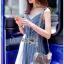 Two-Tone Striped Twisted Lady Ribbon Dress thumbnail 3