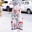 Dress ทรงคอสูงแขนระบายลายวินเทจ thumbnail 4